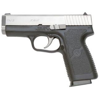 "Kahr CW9 9mm 3.5"" Barrel W/Combat Rear Sight 7+1 Black/Matte Stainless *CA Compliant* CW9093"