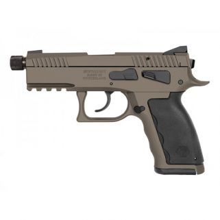 "Kriss Sphinx SDP Compact 9mm 4.35"" Barrel W/ Iron Blade Front-Serrated U Shape Rear Sights 15+1 Sand/Black S4WSDCME077"