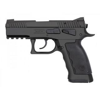"Kriss Sphinx SDP Compact Duty 9mm 3.7"" Barrel W/ Iron Blade Front-Serrated U Shape Rear Sights 17+1 Black S4WSDCME085"