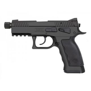 "Kriss Sphinx SDP Compact Duty 9mm 4.35"" Barrel W/ Iron Blade Front-Serrated U Shape Rear Sights 17+1 Black S4WSDCME086"