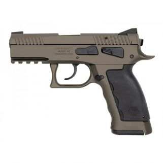 "Kriss Sphinx SDP Compact Duty 9mm 3.7"" Barrel W/ Iron Blade Front-Serrated U Shape Rear Sights 17+1 Sand S4WSDCME091"