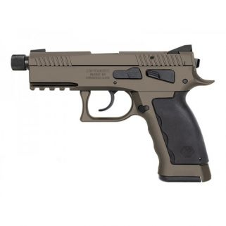 "Kriss Sphinx SPD Compact Duty 9mm 4.35"" Barrel W/ Iron Blade Front-Serrated U Shape Rear Sights 17+1 Sand S4WSDCME092"