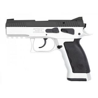 "Kriss Sphinx SDP Compact Duty 9mm 3.7"" Barrel W/ Iron Blade Front-Serrated U Shape Rear Sights 17+1 Alpine White  S4WSDCME094"