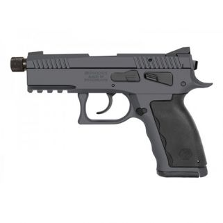 "Kriss Sphinx SDP Compact 9mm 4.35"" Barrel W/ Iron Blade Front-Serrated U Shape Rear Sights 15+1 Combat Grey S4WSDCME101"
