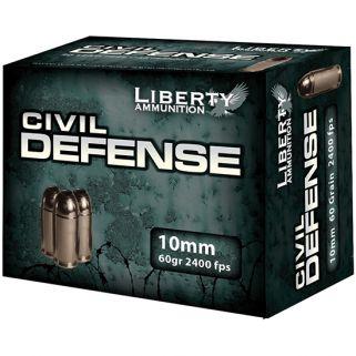LIB AMMO CIVIL DEFENSE 10MM 60GR COPPER 20/50