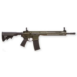 "LWRC IC SPR 223 Remington/5.56NATO 16.1"" Spiral Fluted Barrel W/ Folding Sights 30+1 OD Green ICR5ODG16SPR"