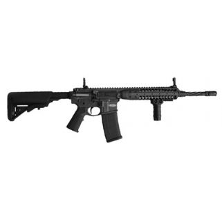 "LWRC MK6 223 Remington/5.56NATO 16"" Spiral Fluted Barrel W/  Back Up Iron Sights 30+1 Black LWICTR5SGF14P"