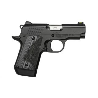 "Kimber Micro 9 9mm 3.15"" Barrel 7+1 Matte Black w/ Green Fiber Optic Front Sight 3300181"