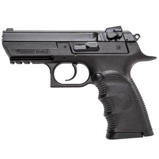 """Magnum Research Baby Desert Eagle III Semi Compact 9mm 3.8"""" Barrel W/ Fixed 3 White Dot Sights 16+1 Polymer Black BE99153"""