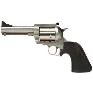 "Magnum Research Big Frame Revolver 44 Magnum 5"" Barrel W/ Fixed-Adjustable Sights *CA Compliant* 5Rd Black Grips/Stainless BFR44MAG5"