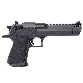 """Magnum Research Desert Eagle 357 Magnum 6"""" Barrel W/ Combat-Fixed Sights-Integral Muzzle Brake 9+1 Black Oxide DE357IMB"""