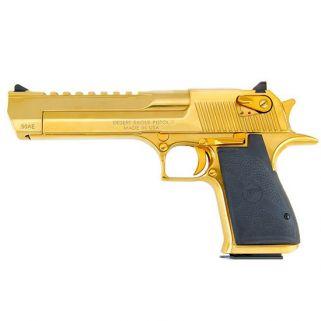 """Magnum Research Desert Eagle 357 Magnum 6"""" Barrel W/ Combat-Fixed Sights 9+1 Black/Titanium Gold DE357TG"""