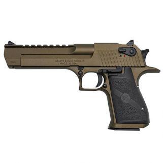 """Magnum Research Desert Eagle 44 Magnum 6"""" Barrel W/ Combat-Fixed Sights 8+1 Black/Burnt Bronze DE44BB"""