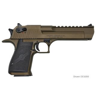 "Magnum Research Desert Eagle 44 Magnum 6"" Barrel W/ Combat-Fixed Sights *CA Compliant* 8+1 Black/Burnt Bronze DE44CABB"
