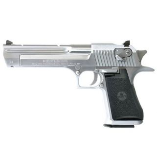 "Magnum Research Desert Eagle 44 Magnum 6"" Barrel W/ Combat-Fixed Sights *CA Compliant* 8+1 Black/Brushed Chrome DE44CABC"