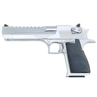 "Magnum Research Desert Eagle 44 Magnum 6"" Barrel W/ Combat-Fixed Sights 8+1 Black/Polished Chrome DE44PC"