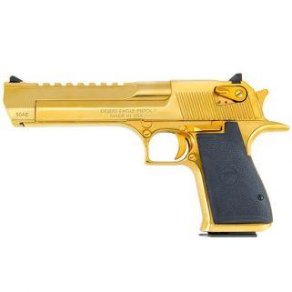 """Magnum Research Desert Eagle 44 Magnum 6"""" Barrel W/ Combat-Fixed Sights 8+1 Black/Titanium Gold DE44TG"""