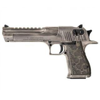 "Magnum Research Desert Eagle 44 Magnum 6"" Barrel W/ Combat-Fixed Sights 8+1 White Matte Distressed DE44WMD"