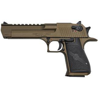 """Magnum Research Desert Eagle 50AE 6"""" Barrel W/ Combat-Fixed Sights 7+1 Black/Burnt Bronze DE50BB"""