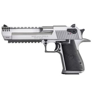 "Magnum Research Desert Eagle 50AE 6"" Barrel W/ Combat-Fixed Sights-Integral Muzzle Brake 7+1 Black/Stainless DE50SRMB"