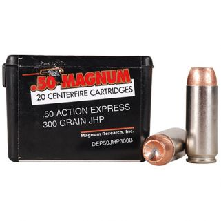 Magnum Research ATK 50AE 300 Grain JHP 20 Round Box DEP50JHP300B