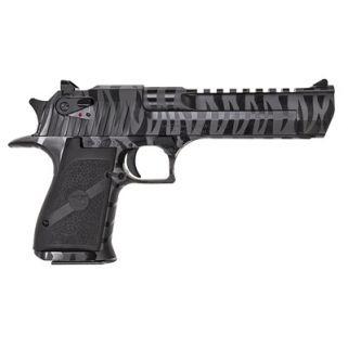 """Magnum Research Desert Eagle 44 Magnum 6"""" Barrel W/ Combat-Fixed Sights 8+1 Black/Black Tiger Stripes DE44BTS"""