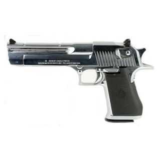 "Magnum Research Desert Eagle 44 Magnum 6"" Barrel W/ Combat-Fixed Sights *CA Compliant* 8+1 Black/Polished Chrome DE44CAPC"