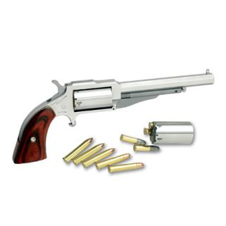 """NAA The Earl 22LR/22 Magnum 4"""" Barrel W/ Post Sights Rosewood Grip/Stainless 1860-4C"""