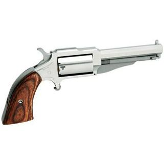 "NAA The Earl 22LR/22 Magnum 3"" Barrel W/ Fixed Sights 5Rd Wood Grip/Stainless 18603C"