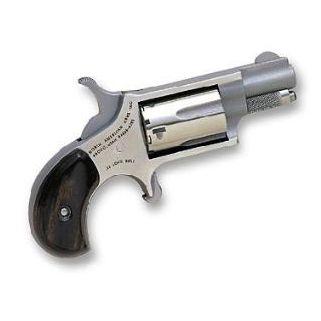 "NAA Mini Revolver 22LR 1.625"" Barrel W/ Half-Moon Sight 5Rd Rosewood Grip/Stainless 22LLR"