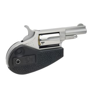 "NAA Mini Revolver Holster Grip 22LR 1.625"" Barrel W/ Half-Moon Sight 5Rd Stainless 22LLRHG"