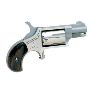 "NAA Mini Revolver 22LR 1.125"" Barrel W/ Fixed Sights 5Rd Wood Grip/Stainless 22LR"