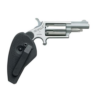 "NAA Mini Revolver Holster Grip 22 Magnum 1.625"" Barrel W/ Half-Moon Sight 5Rd Stainless 22M-HG"
