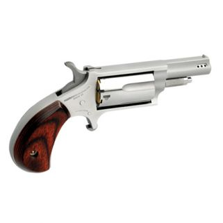 "NAA Mini Revolver 22 Magnum 1.625"" Ported Barrel 5Rd Wood Grip/Stainless 22M-P"