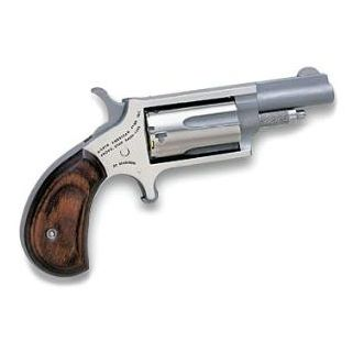 "NAA Mini Revolver 22 Magnum 1.625"" Barrel W/ Half-Moon Sight 5Rd Rosewood Grip/Stainless 22M"