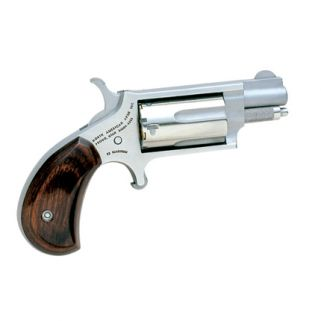 "NAA Mini Revolver 22LR/22 Magnum 1.125"" Barrel W/ Half-Moon Sight 5Rd Rosewood Grip/Stainless 22MSC"