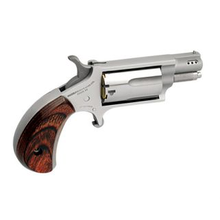 "NAA Mini Revolver SNUB 22LR/22 Magnum 1.125"" Ported Barrel W/ half-Moon Sight 5Rd Rosewood Grip/Stainless 22MSC-P"