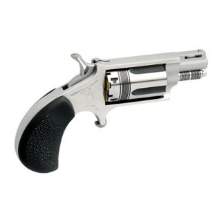 "NAA Mini Revolver WASP 22LR/22 Magnum 1.125"" Barrel W/ Half-Moon Sight 5Rd Rubber Pebbled Grip/Stainless 22MSC-TW"