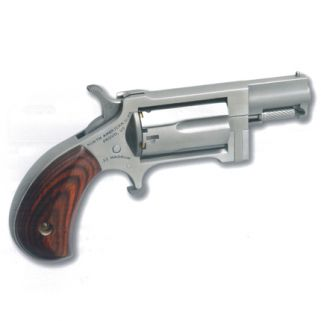 """NAA Sidewinder 22 Magnum 1.5"""" Barrel 5Rd Rosewood Grip/Stainless NAA-SW"""