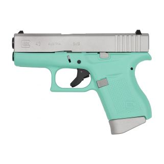 "Glock 43 Gen 3 9mm 3.39"" 6+1 Robin Egg/S PI4350201RESA"