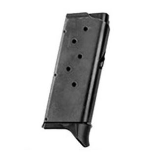 Remington RM380 380ACP Magazine W/ Finger Extension Optional Base Plate 6Rd Black 17679