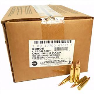 Remington UMC Bulk Pack 223 Remington 55 Grain 1000 Round Box L223R3BP