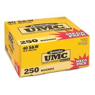 Remington UMC 40S&W 180 Grain Brass 250 Round Box L40SW3A