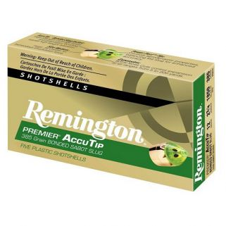 "Remington Premier AccuTip 12 Gauge Slug Shot 3"" 5 Round Box PRA12M"