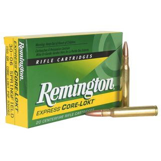 Remington Core-Lokt 30-06 Springfield 180 Grain Brass 20 Round Box R30064