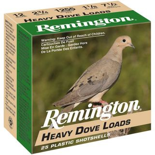 "Remington Heavy Dove Loads 20 Gauge 7.5 Shot 2.75"" 25 Round Box RHD2075"