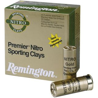"Remington Premier Nitro Sporting Clays 12 Gauge 8 Shot 2.5"" 25 Round Box STS410NSC8"