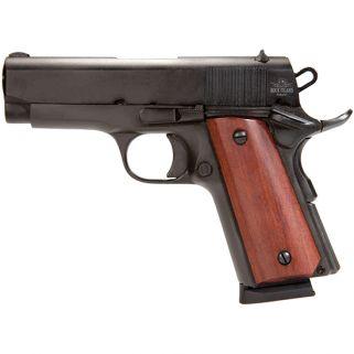 "Rock Island Armory 1911 GI Compact 45ACP 3.5"" Barrel W/ Fixed Sights 7+1 Smooth Wood Grip/Black 51416"