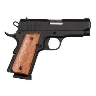 """Rock Island Armory 1911 GI Compact 45ACP 3.5"""" Barrel W/ Fixed Sights 7+1 *MA Compliant* Wood Grip/Black 51416MA"""