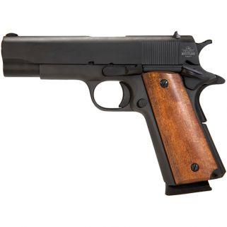 "Rock Island Armory 1911 GI 45ACP 4.25"" Barrel W/ Fixed Sights 8+1 Smooth Wood Grip/Black 51417"